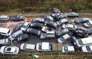 Pile up on A31