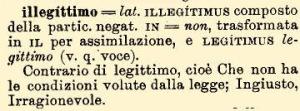 illegittimo