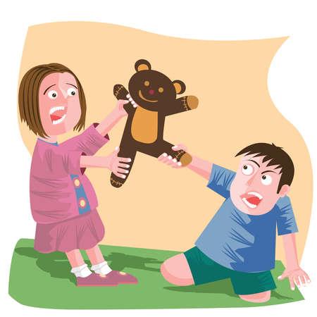 bambini-che-si-litigano-un-peluches
